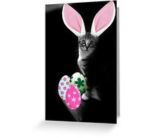 Easter Bunny Cat Greeting Card