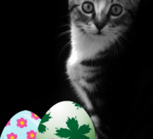 Easter Bunny Cat Sticker