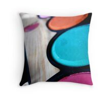 Palette of Color Throw Pillow