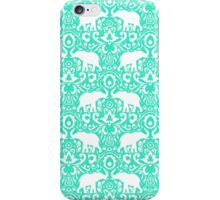 Elephant Damask Mint iPhone Case/Skin