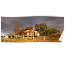 Farmhouse Stormclouds, Castlemaine, Victoria, Australia Poster