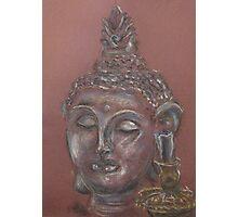 Buddha Head Statue Photographic Print