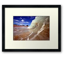 Blue Skies and Wet Sand Framed Print