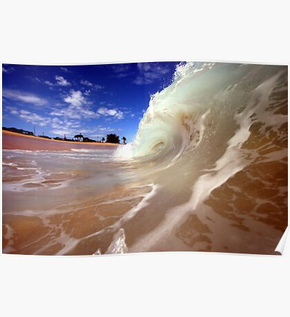 Blue Skies and Wet Sand Poster