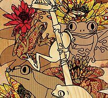 vintage frog by Narelle Craven