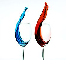Red Vs. Blue Wine by CGPRO