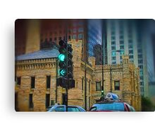Driving By Water Tower in Chicago Canvas Print