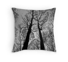 Blackened trees stand tall in the Yarra Ranges National Park Throw Pillow