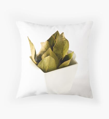 Bay leaves Throw Pillow