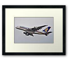 Singapore A380 Framed Print
