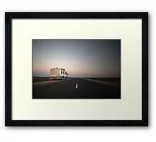 Lonely desert highway... Framed Print