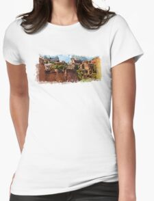 Rome architecture Womens Fitted T-Shirt