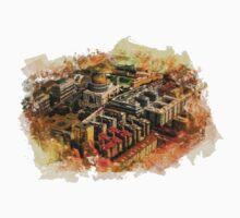 Rome aerial art One Piece - Short Sleeve