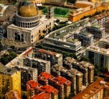 Rome aerial art Sticker