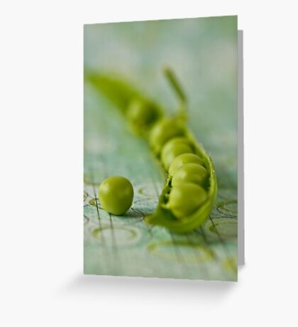 Pea and pod Greeting Card