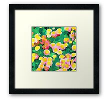 Daisy Patch - Abstract Watercolor Floral Framed Print
