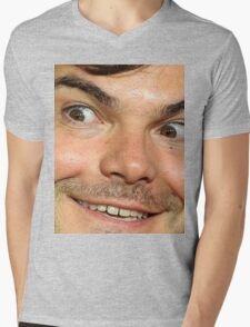 Blessed Jack Black Eyebrow Mens V-Neck T-Shirt