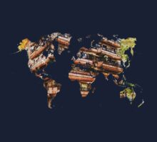 Map of the world architecture Kids Tee