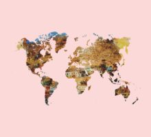 Map of the world house living Kids Clothes
