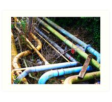 Old pipes Art Print