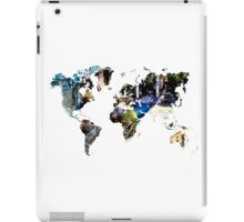 Map of the world blue watercolor iPad Case/Skin
