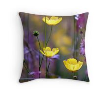 Glowing colours Throw Pillow