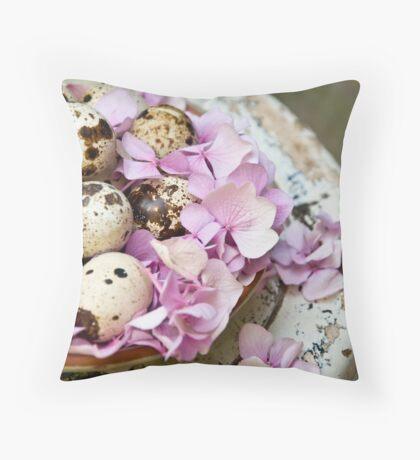 Quail eggs Throw Pillow