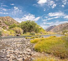 Rio Grande River between Taos and Santa Fe by Robert Kelch, M.D.