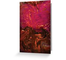 Red, Pink and Brown Water Bubbles Abstract Greeting Card
