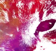 Purple kitty Sticker