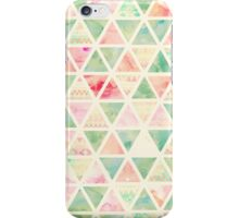 Abstract Triangles Pattern Pink Turquoise Tie dye  iPhone Case/Skin