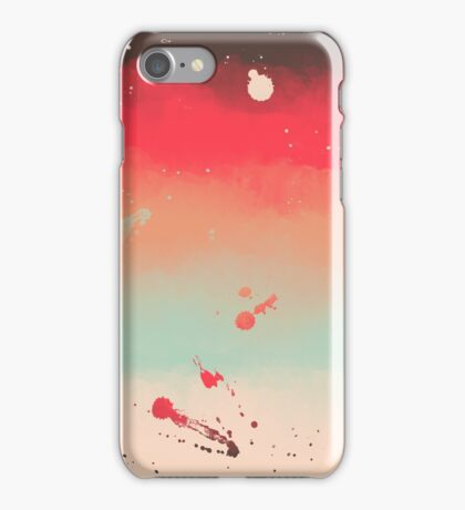 Autumn Stripes Watercolor Abstract Splatters iPhone Case/Skin