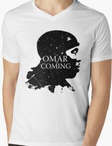 omar comin yo! Mens V-Neck T-Shirt