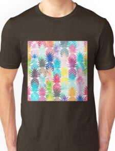 Hawaiian Pineapple Pattern Tropical Watercolor Unisex T-Shirt