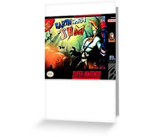 Earthworm Jim Super Nintendo NES Box cover  Greeting Card