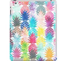 Hawaiian Pineapple Pattern Tropical Watercolor iPad Case/Skin