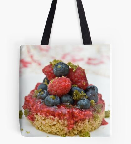 Dessert with berries Tote Bag