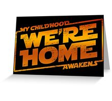 We're Home (red White) Greeting Card