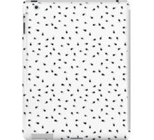 Modern abstract black white paint polka dots  iPad Case/Skin