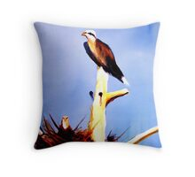Osprey Nesting Throw Pillow