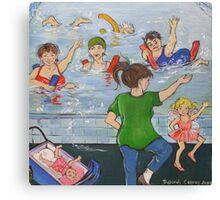 Learn to Swim Canvas Print