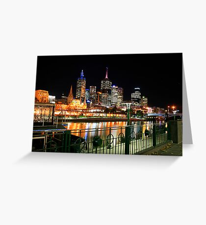 Melbourne Nights Greeting Card