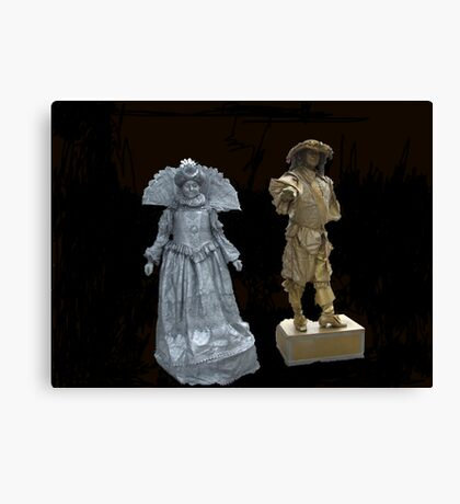 Human Statues Canvas Print