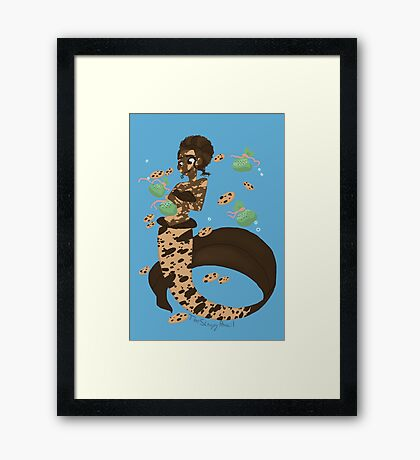 Dessert mermaid: Chocolate Chip Cookie Framed Print