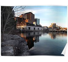 From Old to New - Waterfront Buildings in Hull Quebec Poster