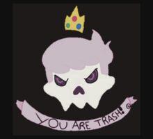"""YOU ARE TRASH "" Mystery Skulls - "" Ghost "" fan art merchandise  by weeabob"