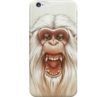The White Angry Monkey iPhone Case/Skin