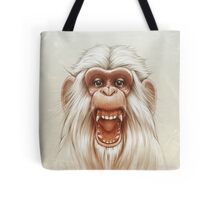 The White Angry Monkey Tote Bag