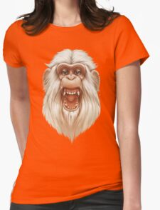 The White Angry Monkey Womens Fitted T-Shirt