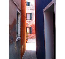 Burano Alleyway Photographic Print